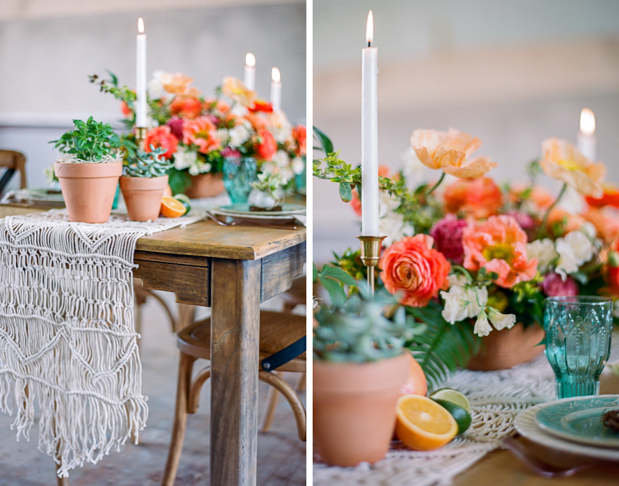 Citrus Inspired Easter Tablescape with Bare Root Flora Citrus Easter Table 001