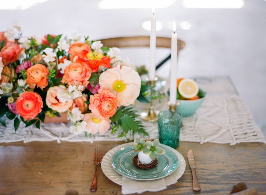 Citrus Inspired Easter Tablescape with Bare Root Flora Citrus Easter Table 005